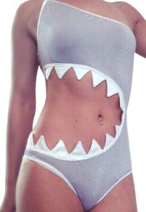Shark Bite Open Tankini Swimsuit