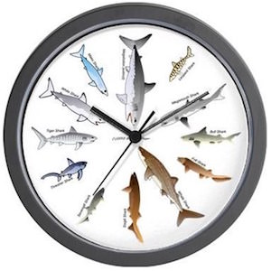 12 Sharks Wall Clock