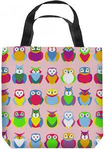 Pink Owls Tote Bag
