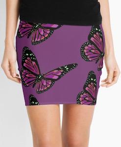 Purple Butterfly Skirt