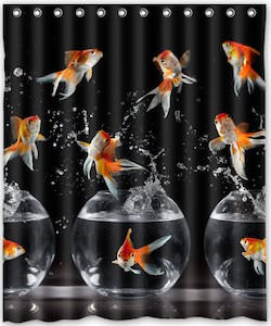 Goldfish And Bowl Shower Curtain