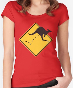 Kangaroo On The Move T-Shirt