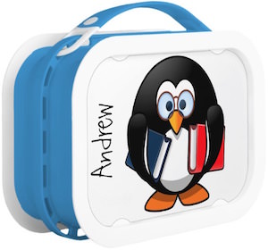 Personalized Back To School Penguin Lunch Box