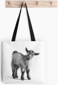 Baby Goat Tote Bag
