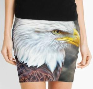 Bald Eagle Pencil Skirt