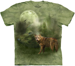 Green Wolf Spirit T-Shirt