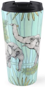 Two Elephants On A Travel Mug