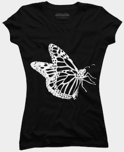 Butterfly Outline T-Shirt