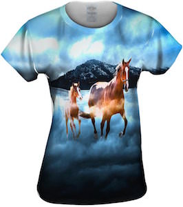 Horses In The Clouds Women's T-Shirt
