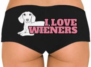 I Love Wieners Dachshund Panties