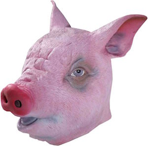 Latex Pig Costume Mask
