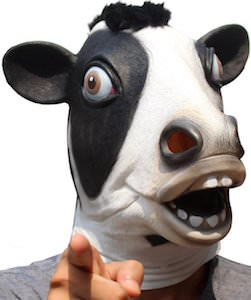 Latex Cow Mask