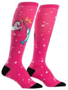 Unicorn And Narwhal Whale Knee High Socks