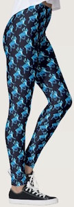 Blue Reindeer Leggings