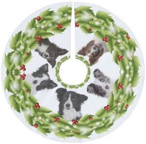 Border Collie Christmas Tree Skirt
