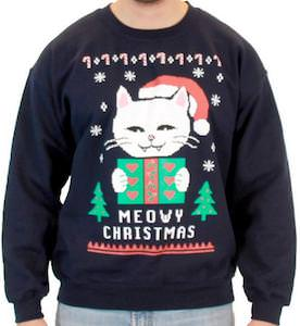 Meowy Christmas Cat Christmas Sweater