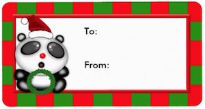 Panda Bear Christmas Gift Tags