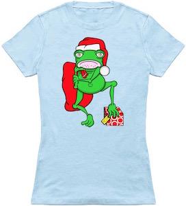 Santa Frog Christmas T-Shirt