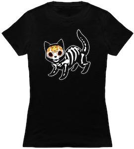 Halloween Skeleton Cat T-Shirt
