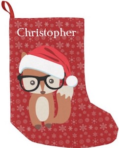 Red Fox Christmas Stocking