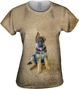 Women's German Shepherd Puppy T-Shirt