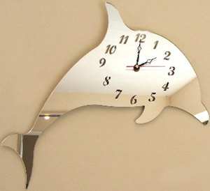 Dolphin Mirror Wall Clock