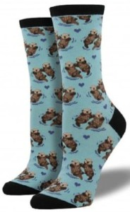 Otter Couples In Water Socks