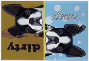 Boston Terrier Dishwasher Magnet