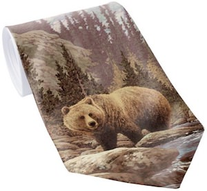 Grizzly Bear Necktie