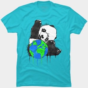 Panda Bear And Earth T-Shirt