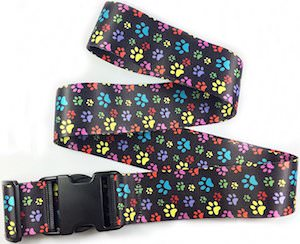 Paw Print Suitcase Strap