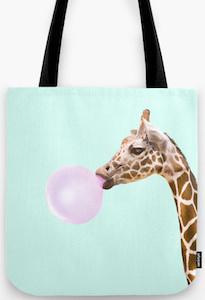 Bubble Gum Giraffe Tote Bag