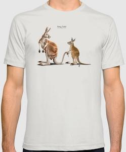 Kangaroo Being Tailed T-Shirt