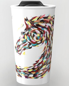 Swirl Horse Travel Mug