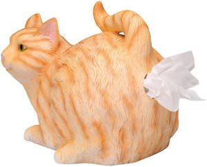 Tabby Cat Tissue Box Holder