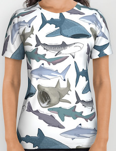 Sharks All Over T-Shirt