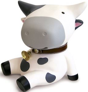 Sitting Cow Money Bank