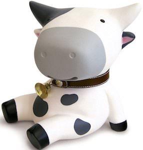 Sitting Cow Money Bank