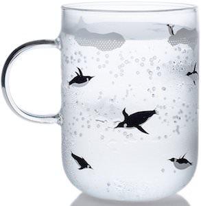 Penguin Print Glass