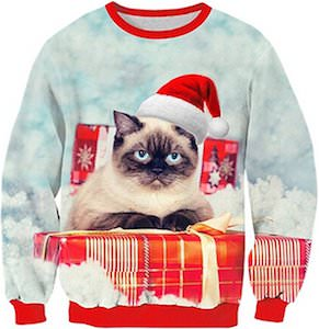 Cat And Presents Christmas Sweater