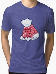 Polar Bear Wearing A Christmas Sweater T-Shirt