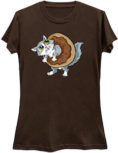 Cat Inside A Donut T-Shirt