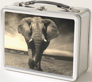 Metal Elephant Lunch Box