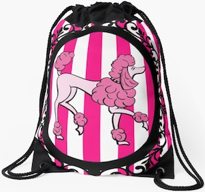 Pink Poodle Backpack