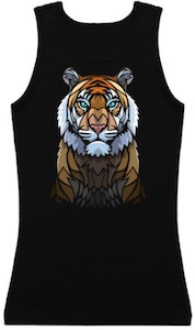 Stained Glass Tiger Tank Top