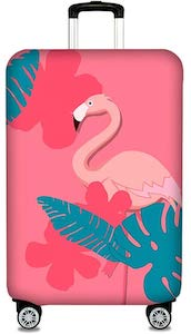 Pink Flamingo Suitcase Cover