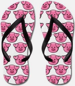 Cute Pigs Flip Flops