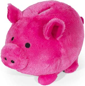 Plush Pig Money Bank