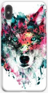 Colorful Wolf Portrait iPhone Case