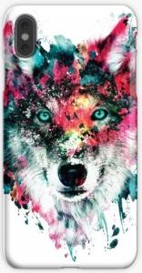 Wolf Colorful Portrait iPhone Case